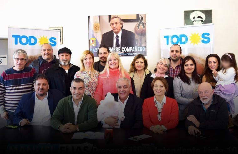 Manuel Elías presentó su lista de precandidatos