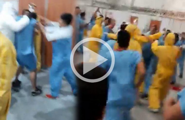 Costa Salguero: batalla campal en un centro de infectados por coronavirus